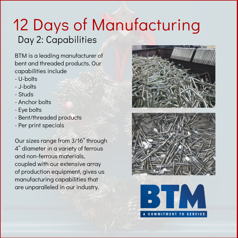 Day 2 of 12 Days of Manufacturing