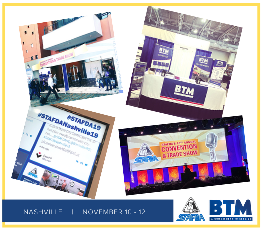 BTM Manufacturing Exhibits at STAFDA