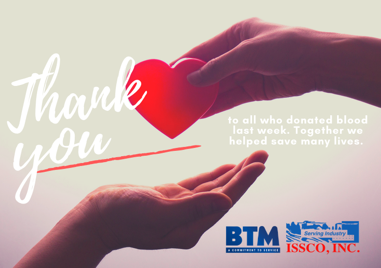 BTM Co-Hosts Blood Drive and Gives Back